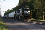 NS 13G northbound train sit on Harrington siding