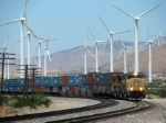 UP 4438 and the wind mills of north Palm Springs