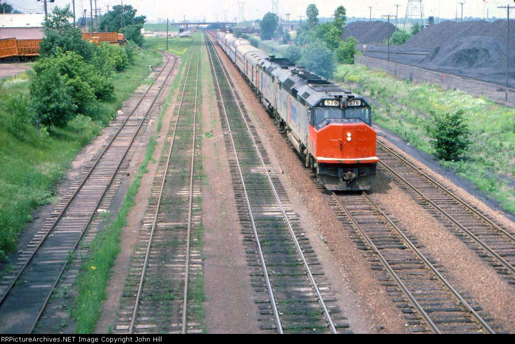 1000-05 Eastbound Amtrak North Coast Hiawatha passing Koppers Coke