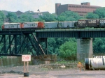 1000-13a SOO Railway Job crosses NP Bridge 9 near C&NW Railway Transfer Yard