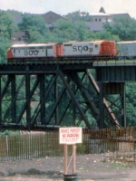 1000-13b SOO Railway Job crosses NP Bridge 9 near C&NW Railway Transfer Yard