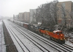 BNSF SD70ACe with a NB manifest passes King Plow