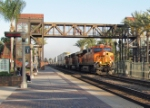 BNSF 7537 leading a stack train through Fullerton