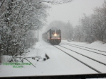 4002 Arrives @ Rutherford in the Snow