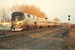 Westbound Michigan train