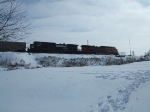 BNSF 4673 and NS 9549