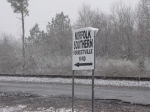 Forrestville Yard Signage Covered in Snow