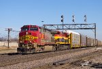 BNSF & KCS=A colorful lasup of locomotives on this sunny day.