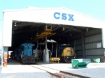 CSX 8767 and CSX 7919 in the engine shop