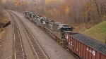 NS 8879 and 6174 trail the loaded coal