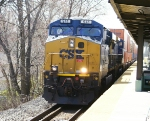 CSX ES44AC 941 leads monster Q190 on a beautiful spring day at Roselle Park station