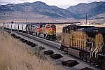 BNSF Unit Soda Ash Train takes Leyden Siding