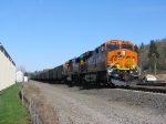BNSF6392 an ES44AC leads a coal empty out of BNSF Vancouver Yard.