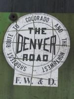 """""""F.W.&D."""" logo on BNSF2075"""