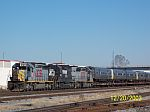 NS 339 with Long Island RR cars on flats