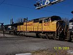 UP 4232 SD70M on Pervis, Mississippi Coal Train