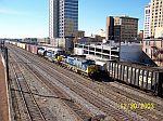 CSX train 682 passes train 678 downtown