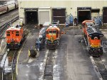 3 locomotives will different uses.