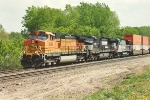 Westbound stack train passes Union