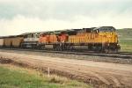 Loaded coal train moves east