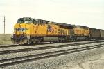 Loaded coal train moves south