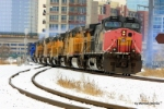 BNSF 6171 trails a southbound power move