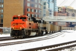 BNSF 9393 glides southbound with a string of PRB coal