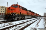 BNSF 6365 on the point of empties heading back to the mines in Wyoming