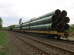 Pipes on flatbed
