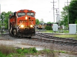 BNSF 6016 heads north on the Coffeyville Sub