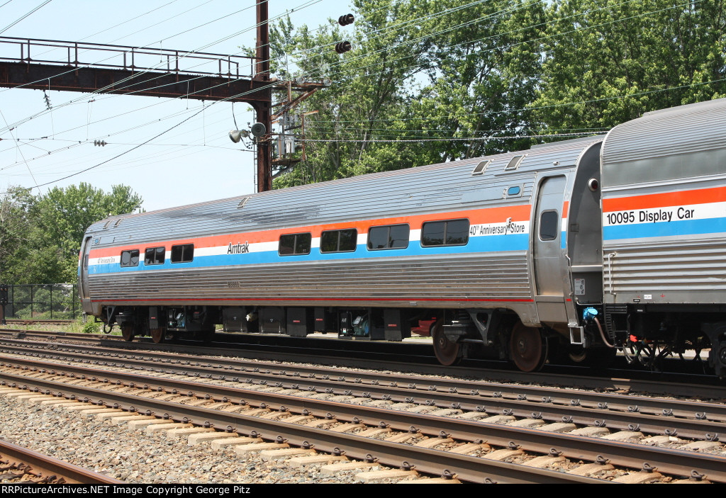 Amtrak 40th Anniversary Special sales car