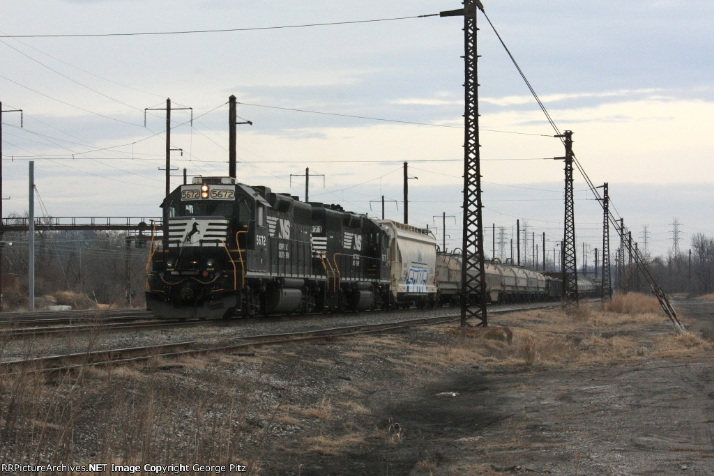 Coming off the Sparrows Point Branch