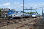 Inspection train meets an Acela