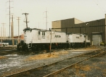 Amtrak GP9's at Wilmington shop