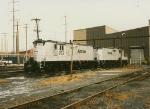 Amtrak GP9's at Wilmington shop