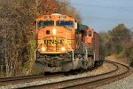 BNSF 8901 with empty oil train