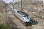 MARC train 610(7) at Chesaco Park, MD