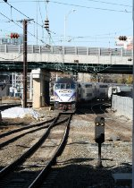 MARC train 612(18) arrives at Baltimore