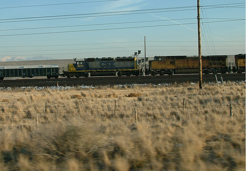 CSX 8870 passes on this freight