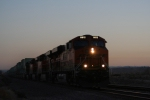 BNSF 6612 Silhouettes in the Setting Sun