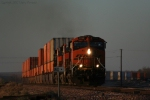 BNSF 7786 Flys West Pushing 70