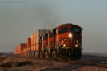 BNSF 7786 Screams Across the Desert chasing the Sun