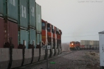 A Couple BNSF trains Meet Around the Corner at 70 MPH