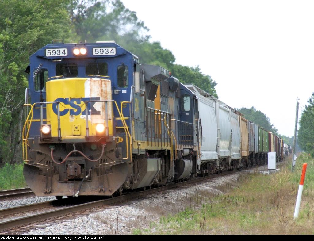CSX 5934 on Tallahassee Sub