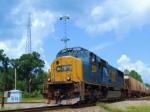 """CSX 4516 K803-22 """"Flyash"""" Train"""