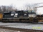 NS 2676 leads train 314 past 32nd  st