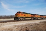 BNSF 4698 approaches County Road 1100