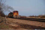 BNSF 4710 races westbound thru Nichols Jct headed for the Cherokee Sub, Tulsa and points west
