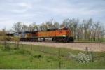 BNSF 4319 races across the Cherokee Sub