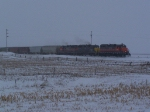Ten MPH Grain Train Heads East to the Canadian Pacific Interchange at Flaxton, ND
